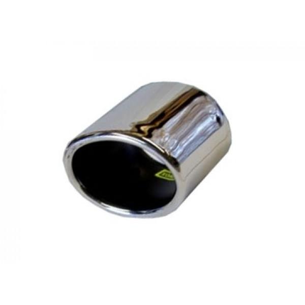 Uitlaatsierstuk RVS Universeel ovaal 65x88mm  passend 45-55mm