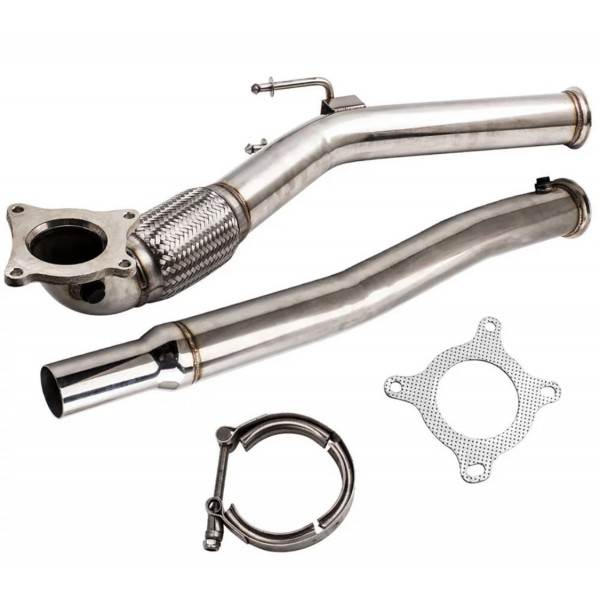 "Vw golf 6 gti 3"" RVS 304 downpipe."