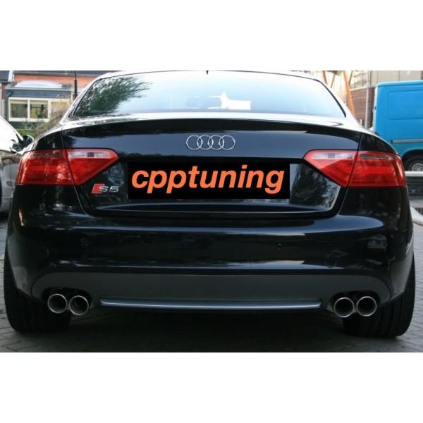 Uitlaat-sierstuk S5 Audi las versie A5 2.0 TDI 1.8 TFSI 3.0 TDI TFSi 3.2 TSI 4.2 TSI V.A 2002 T//M heden.