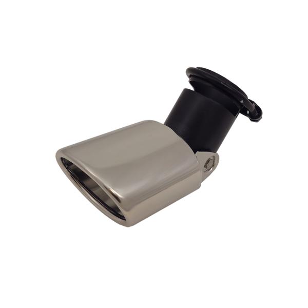 Uitlaatsierstuk Verstelbaar 70x100mm Ovaal - passend 45-58mm.