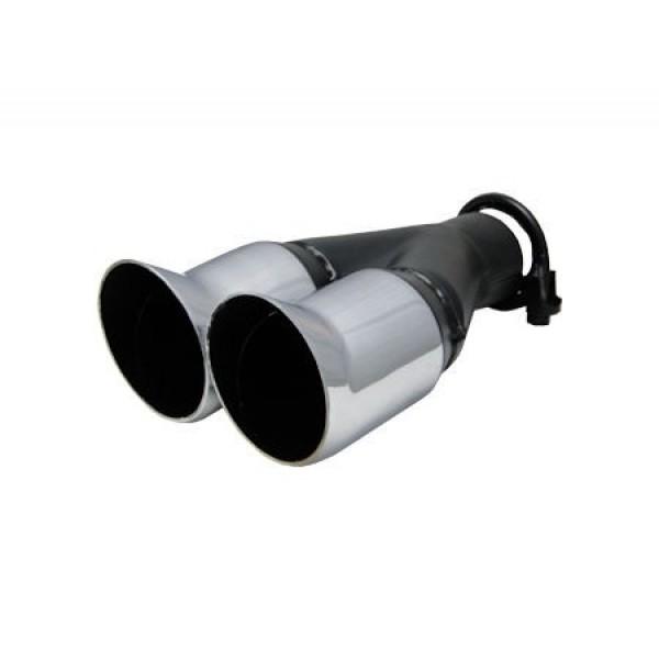 Uitlaatsierstuk Dubbel  - Passend 35-50mm.