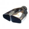 Uitlaatsierstuk Dubbel 80x60mm Passend 45-60mm.