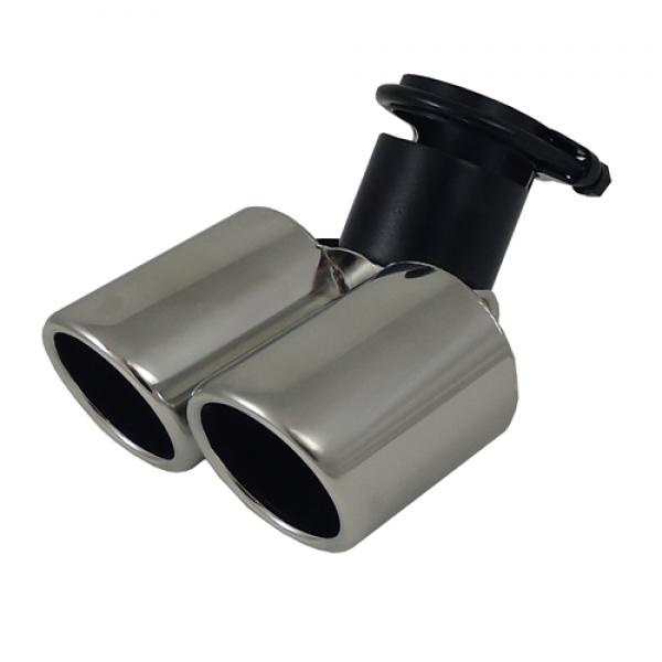 Uitlaatsierstuk RVS Verstelbaar rond 76mm passend 45-58mm