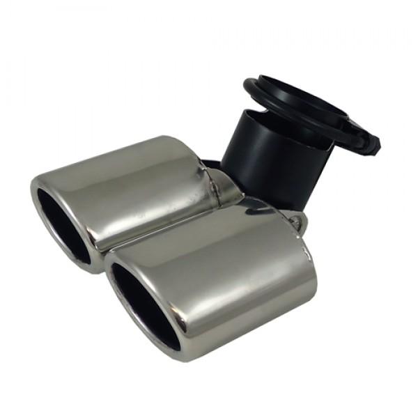 Uitlaatsierstuk RVS Verstelbaar 65x88mm ovaal passend 45-58mm