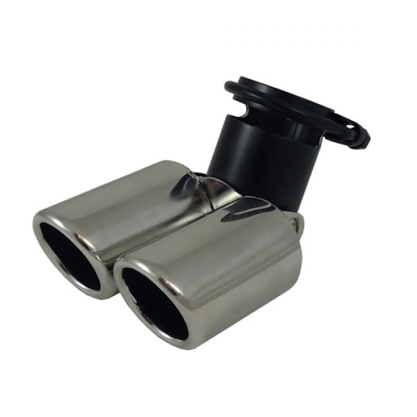 Uitlaatsierstuk RVS Verstelbaar rond 63mm  passend 45-58mm