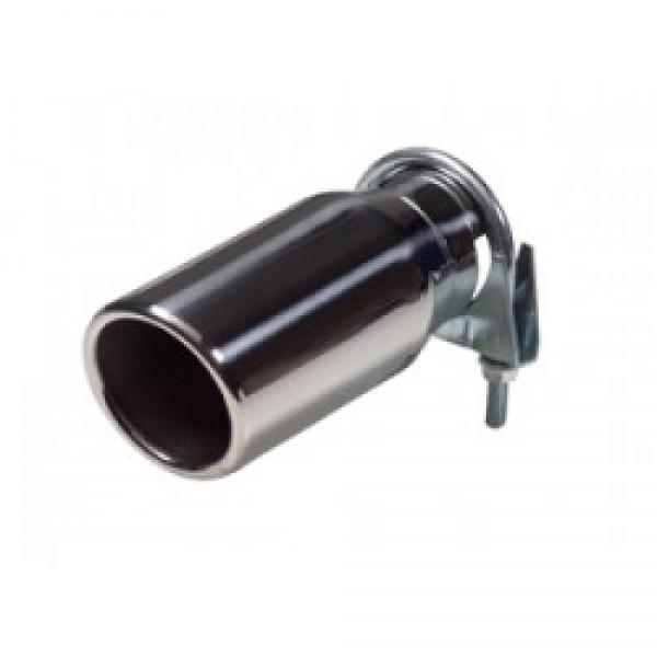 Uitlaatsierstuk RVS Rond 76mm  Passend 48-58mm enkel sierstuk